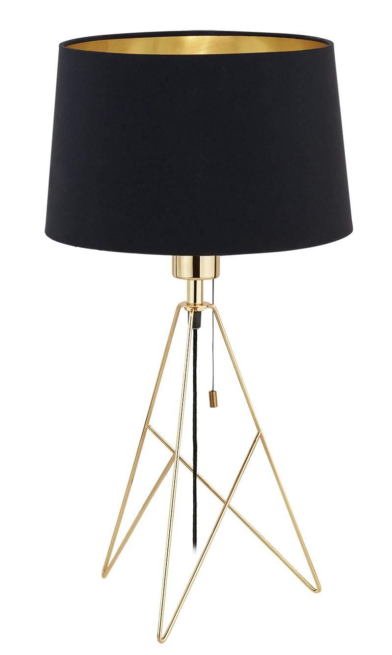 Eglo 39179 Camporale modische Tischleuchte h56 cm   Schwarz, Gold