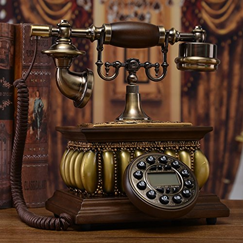 LXYFMS Solid Wood European Telephone Retro Telephone Home Landline American Creative Antique Telephone Old Fashion Solid Telephone