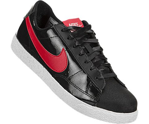 NIKE Kids Blazer Low QS (GS) Black/Speed Red/Bleached Coral Skate Shoe 5.5 Kids US by NIKE (Image #4)