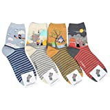 Customonaco Women Miyazaki Hayao Cartoon Socks,Multi,One Size