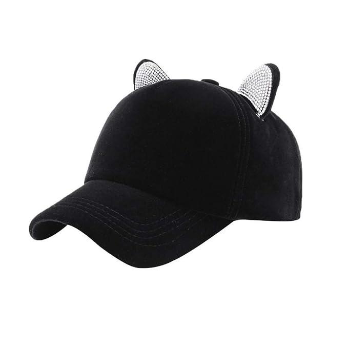 Amazon.com: Gorra de béisbol para mujer con cristales de ...