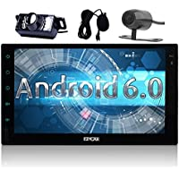 Backup, Front Cam included 7 inch Android 6.0 Marshmallow Car Stereo with External MIC - 2 Din in Dash GPS Navigation Bluetooth Radio - Support Phone Mirror, USB, SD, Dual CAM-IN, OBD2, 3G, 4G, WIFI