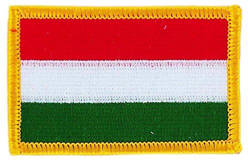 Akacha - Toppa termoadesiva a forma di bandiera dell'Ungheria, ricamata, per zaino