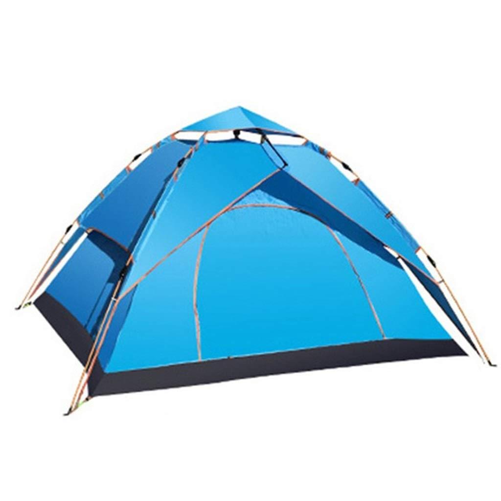 MEIEI Tenda Automatica all'aperto della Tenda della Tenda Automatica di Campeggio di 3-4 Persone Tenda Impermeabile di Viaggio della Borsa Portatile Esterna del Doppio Strato (Colore   blu)