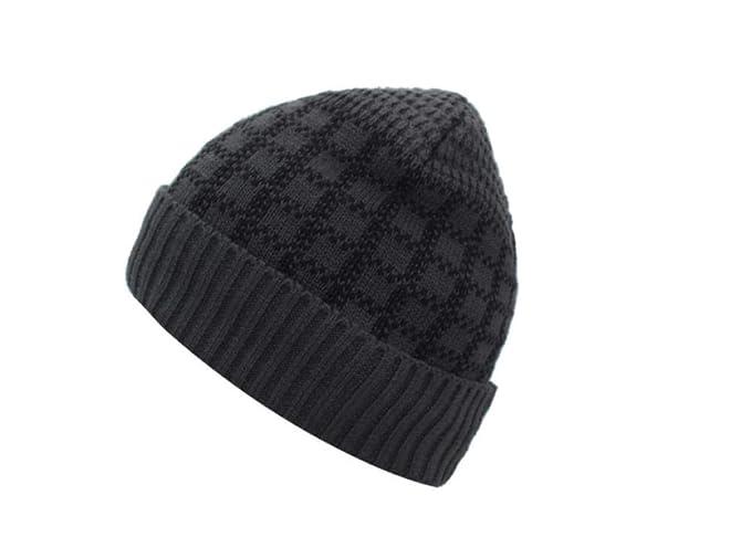 Sombrero cálido Unisex Gorro de Punto Hombres Gorro de Invierno ...