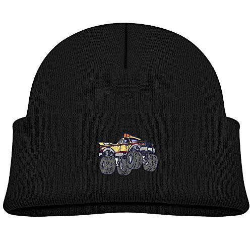 - Beanie Hats Wool Knit Caps Cool Monster Truck Boys' Girls Baby Soft