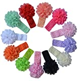 Qandsweet Baby Girl's Headbands Chiffon Flower