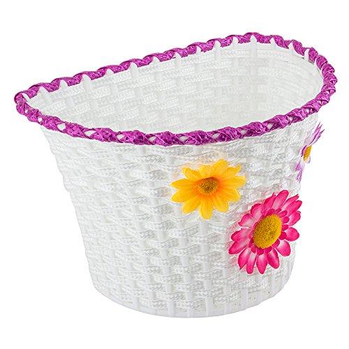 Sunlite Classic Flower Basket, 10'' x 6.5'' x 6.25'', White