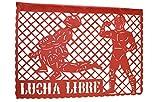 WWE-Lucha Libre Happy Birthday Jumbo Letter Banner Decoration (1 Piece), ''33 feet, Multicolor Papel picado