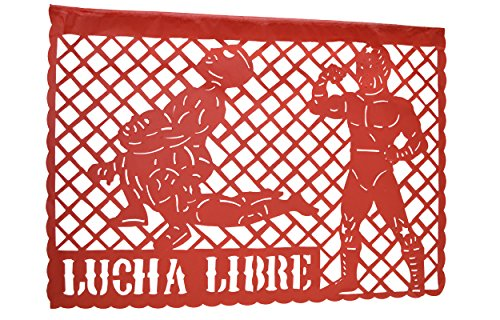 WWE-Lucha Libre Happy Birthday Jumbo Letter Banner Decoration (1 Piece), ''33 feet, Multicolor Papel picado by Grahmart