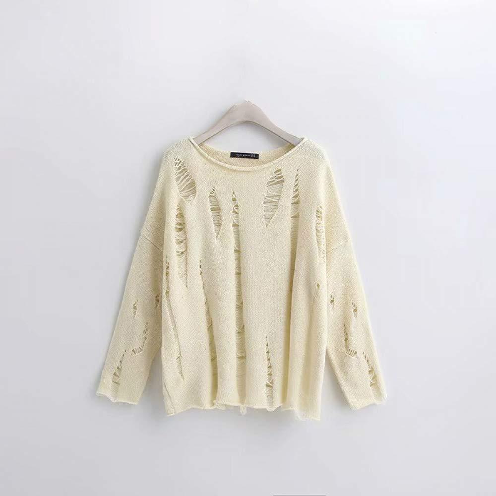 FUHENGMY Pullover Übergröße Herbst Frauen Schrägstrich Hals Vintage Übergröße Gelb Pullover Lose Langarm Tops Frauen Gestrickte Pullover Pullover