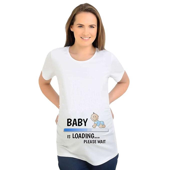 2f3858012 Binhee Nuevo Verano Ropa De Maternidad Camiseta Suelta Descargar Bebé  Imprimir Tamaño Grande Tops Mujeres Embarazadas  Amazon.es  Ropa y  accesorios