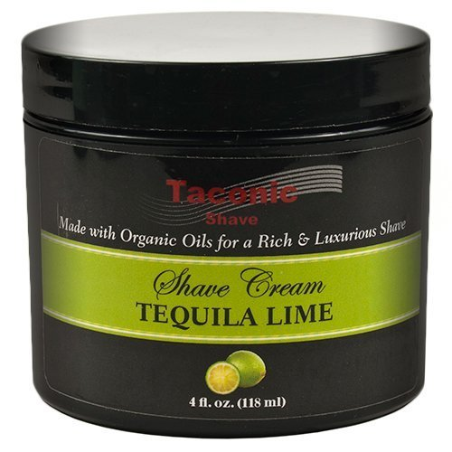 Taconic Shave LIME Shaving Cream with Organic Oils - 4 oz. - MADE IN THE USA by Taconic Shave