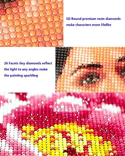 JOLYMAKER Bricolage 5D Diamant Peinture Kits perceuse complète Ronde Cristal Strass Image Artisanat Maison décoration Murale Wapiti 30x40cm