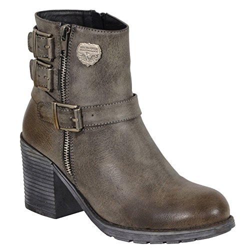 Leather Biker Boots Ladies - 3