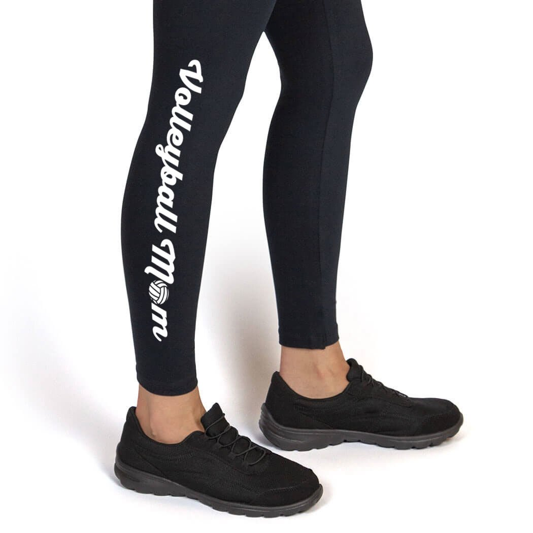 Volleyball Mom Leggings Youth To Adult Sizes Volleyball Leggings by ChalkTalk SPORTS Multiple Colors