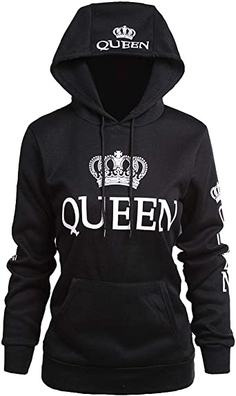 King Queen Pull Couple Sweat /à Capuche King and Queen Hooide Sweat-Shirt /à Capuche Femme Homme