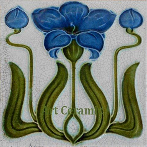 - Art Nouveau Ceramic Tile 6 Inches Reproducction #0032