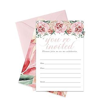 Amazon.com: Charming Invitations - Paquete de 15 tarjetas y ...