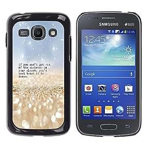 TECHCASE**Cubierta de la caja de protección la piel dura para el ** Samsung Galaxy Ace 3 GT-S7270 GT-S7275 GT-S7272 ** Skeleton Closet Dance Funny Quote