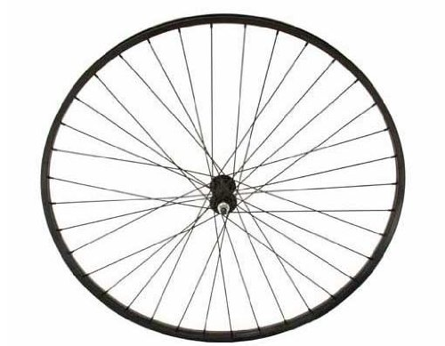 27'' x 1 1/4'' Alloy Front Wheel 14G Black. Bicycle wheel, bike wheel, 27'' bike wheel, 27'' bicycle wheel, fixed gear bike, track bike, bike part, bicycle part by Lowrider