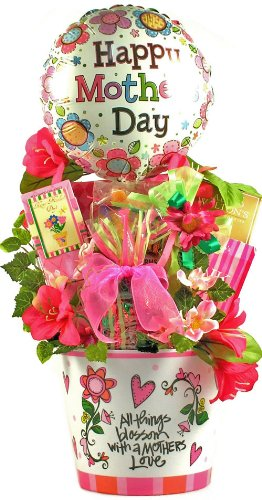 All Things Blossom with a Mother's Love - Unique Gourmet Mothers Day Gift (Happy Birthday Cookie Bouquet)