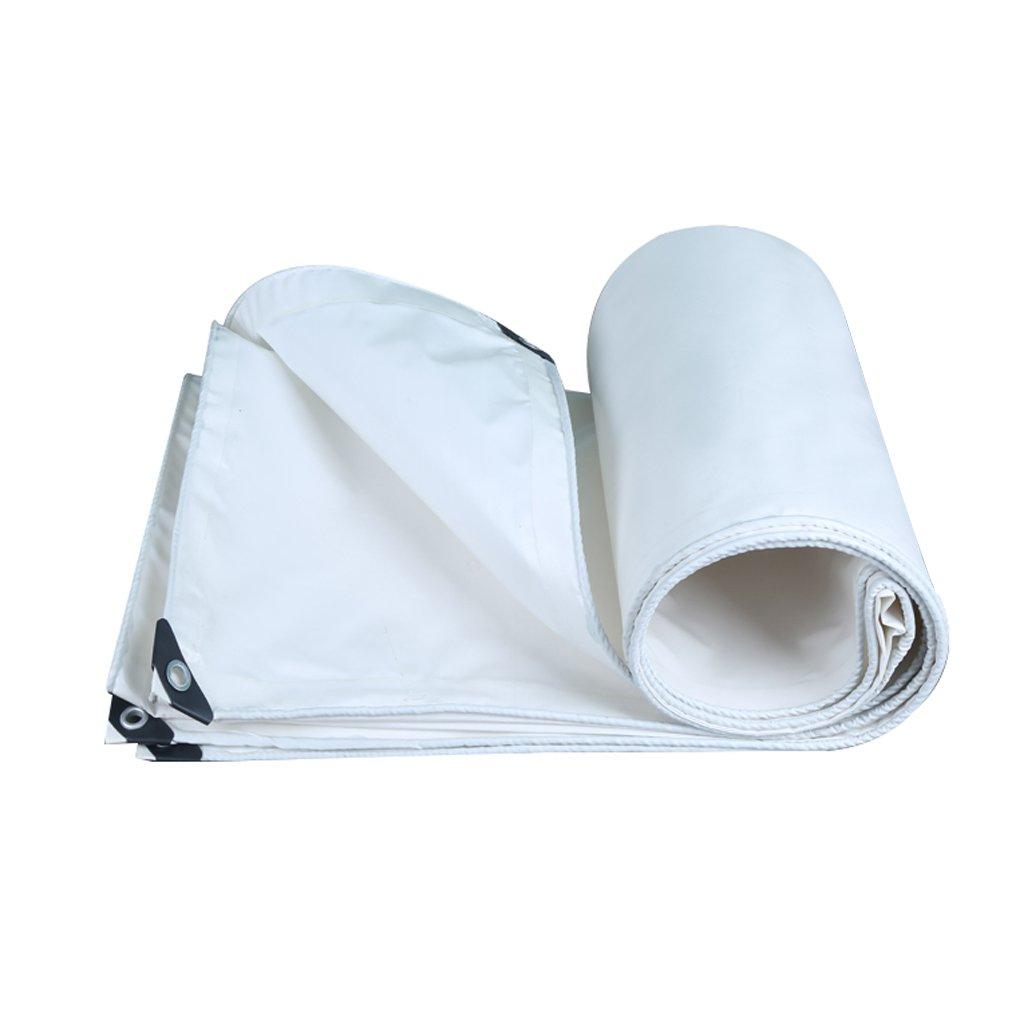 BÂche Toile de bÂche imperméable Prougeection Solaire pour Ponchos Famille Camping Jardin extérieur, épaisseur 0,35 MM, 400 G   m2, Blanc, 17 Options de Taille  44m