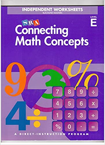 Connecting Math Concepts Independent Worksheets, Level E ...