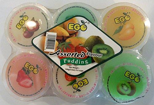 Hawaiian Fruits Flavoured Pudding Pack of 6 with Nata de Coco 720g (Banana, Papaya & Coconut)