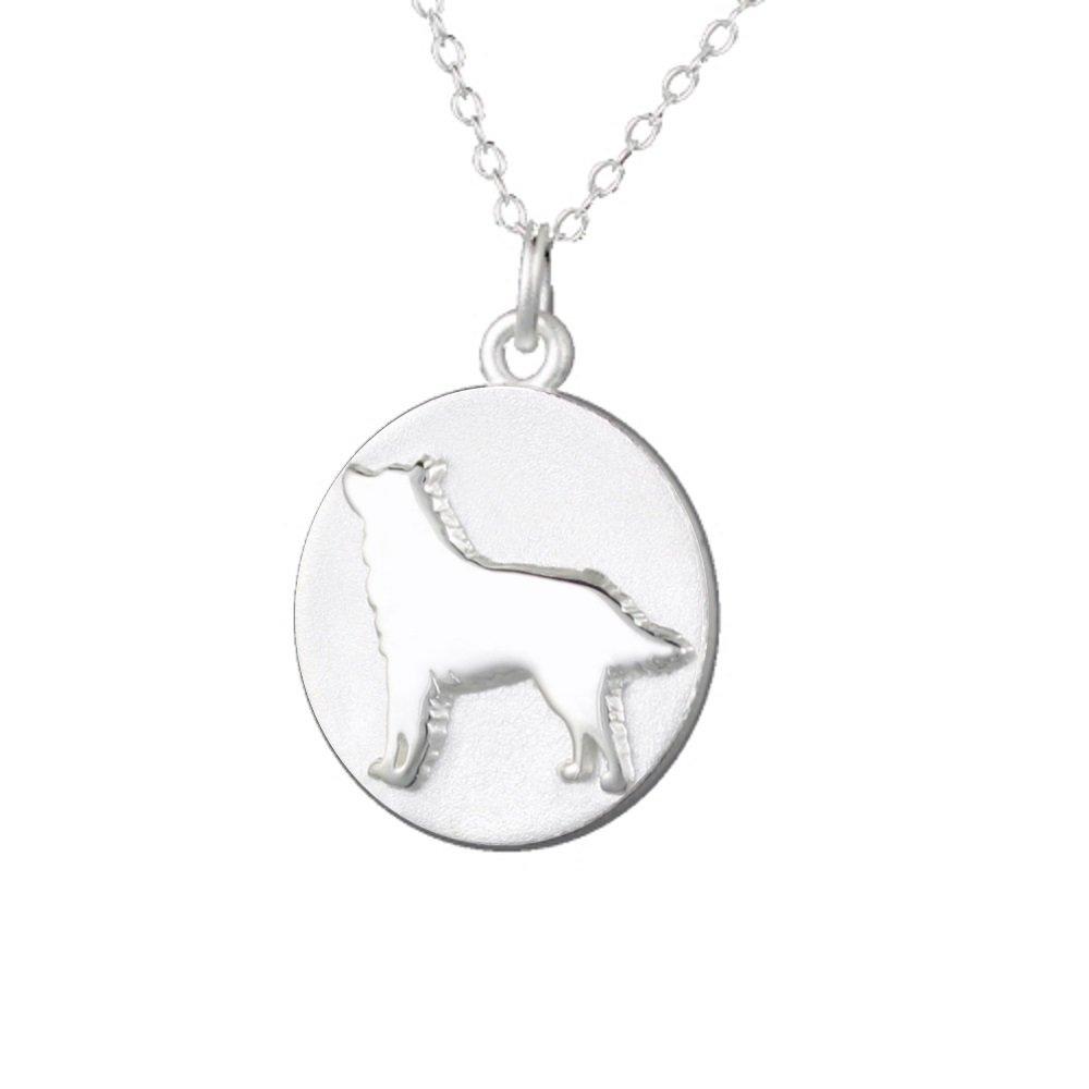 Mochi & Jolie Silver Pendant Necklace, Husky