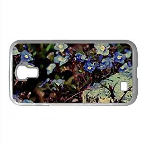 Blue Flowers Background Watercolor style Cover Samsung Galaxy S4 I9500 Case (Flowers Watercolor style Cover Samsung Galaxy S4 I9500 Case)