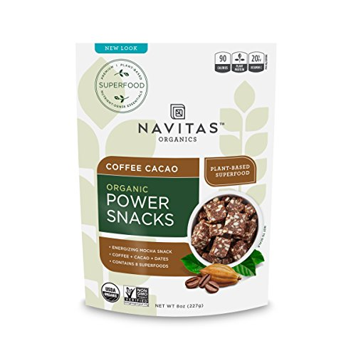 - Navitas Organics Superfood Power Snacks, Coffee Cacao, 8 oz. Bags (12 Pack) — Organic, Non-GMO, Gluten-Free, Refined Sugar-Free