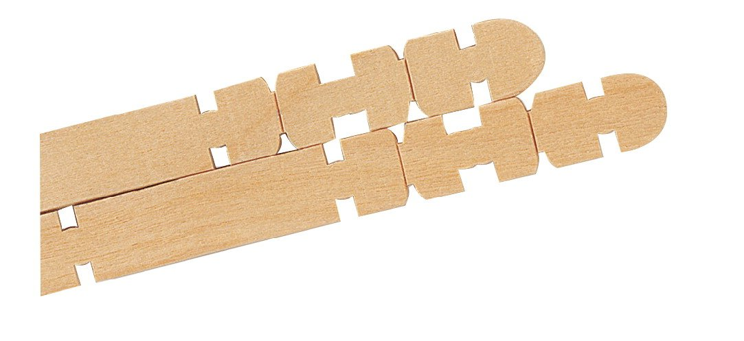 Chenille Kraft 371852 Notched Action Stick for Building, 4-1/2'' Size