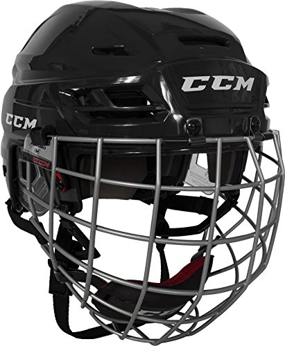 (CCM Resistance 100 Hockey Helmet with Cage - Black - Size)