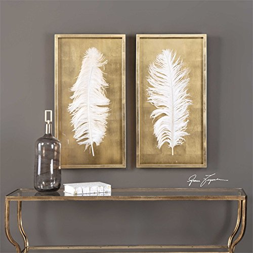 (Uttermost Shadow Box in Gold Finish - Set of 2)