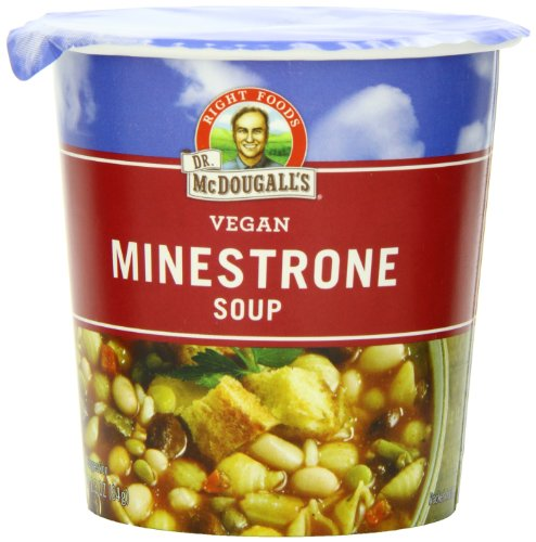 Dr. McDougall's Right Foods Vegan Minestrone & Pasta Soup, 2.3-Ounce Cups (Pack of 6)