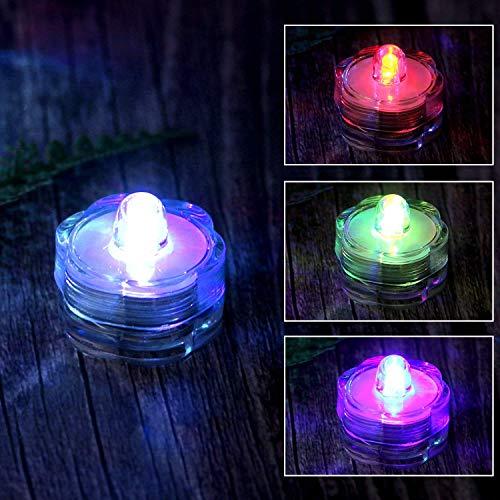 (AGPTEK 24 Pack LED Submersible Waterproof Battery Tea Vase light Candle Wedding Floral Decoration - RGB)