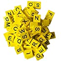 200 Wood Scrabble Tiles - Yellow Colour - 2 Complete Sets - Game Replacement Crafts Weddings Scrapbookingの商品画像