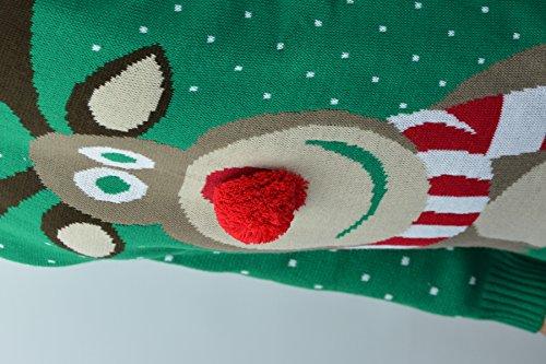Boutique No pompons Motif unisexe Funky le 40 au Rudolphe 3D de l renne nez Pw4qPxdBz