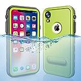iPhone XR Waterproof Case, Dooge Shockproof Dirtproof Snowproof Rain Proof Heavy Duty Full Protection Rugged IP68 Certified Waterproof Case with Kickstand Screen Protector for Apple iPhone XR 6.1'
