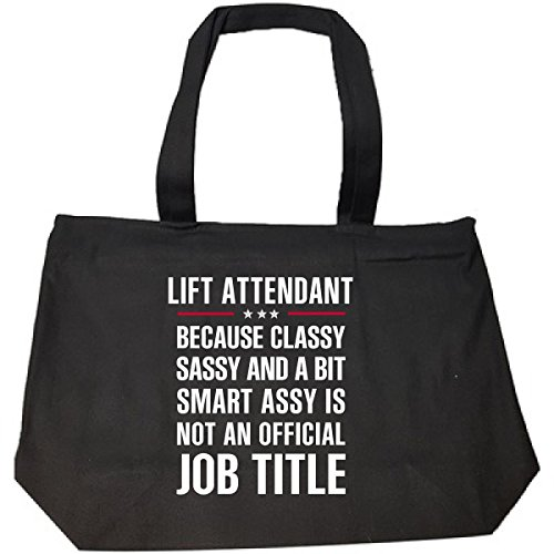 Gift For Classy Sassy Smart Assy Lift Attendant - Tote Bag With Zip (Handle Assy Lift)