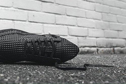 Sneakers uomo calzature scarpe alte Balen in pelle piramide nero filln