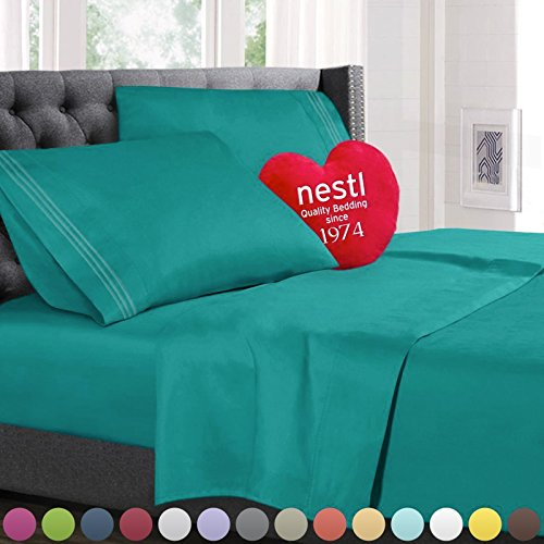Queen Size Bed Sheets Set Teal, Highest Quality Bedding Shee