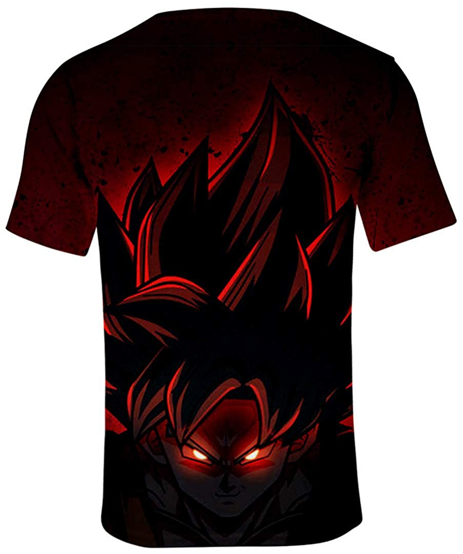 Silver Basic T-Shirt /à Manches Courtes Drangon Ball Super Enfant Gar/çon Tops Sport Son Goku Saiyan Vegeta 3D Impression