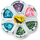 Assorted Celluloid Guitar Picks in Bulk: Thin, Medium and Heavy Gauge (50/60/75 pcs pack)