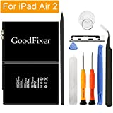 GoodFixer for Apple iPad Air 2/iPad 6 Battery Replacement with Complete Repair Tools Kit, Adhesive Strip 0 Cycle - 7340mAh Li-ion Replacement Battery [365 DAYS Warranty]