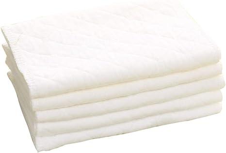 Xiaoyamyi - Pañales de gasa de algodón para recién nacidos (5/10 unidades) Three layers of white code: Amazon.es: Bebé