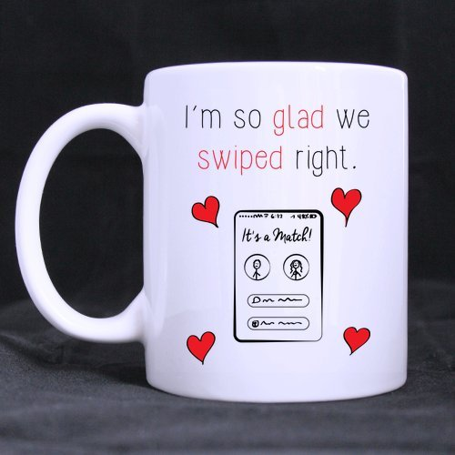 Coffee Mug I'm So Happy I Swiped Right Tea Cup Ceramic Coffee Mug 11 - Address Change Usps In Shipping Transit
