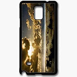 Unique Design Fashion Protective Back Cover For Samsung Galaxy Note 4 Case Cloudy Nature Wallpaper Nature Black
