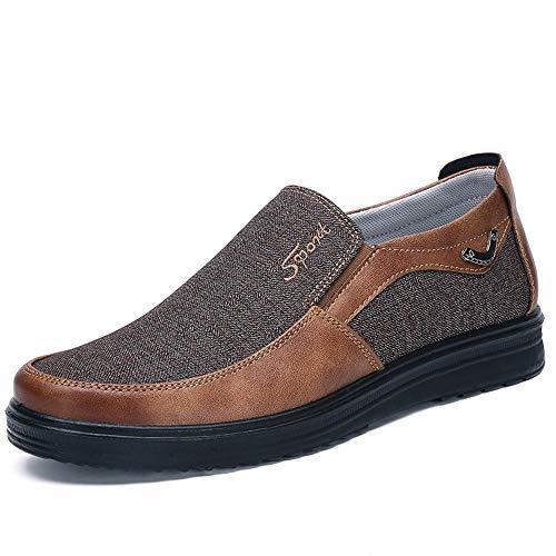 Las EU en Zapatos resbalón del de Alpargatas Suela Negro la cómodas Suave Fuxitoggo Hombre Viejos 46 Pekín Caqui tamaño del de Grande Antideslizantes de Color tamaño Tela v8Sdqwz